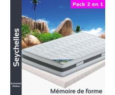 Seychelles - Pack Matelas + Tapissier 130x190 - Ensembles matelas et sommier