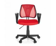 Chaise de bureau enfant / siège de bureau enfant KIDDY CD tissu maille rouge - Sièges et fauteuils de bureau