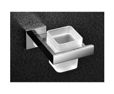 Porte-brosse à dents contemporain en inox poli miroir - Accessoires de bain