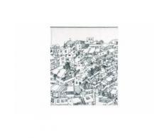OPPORTUNITY 11K12200006 Rideau de douche District PEVA 180x200 cm Noir/Blanc - Accessoires salles de bain et WC