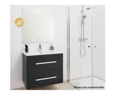 Aqua+ - meuble salle de bain blanc à suspendre 60cm - nuevo - Installations salles de bain