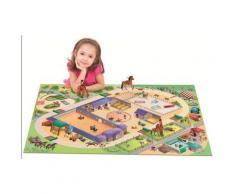 Tapis enfant jeu circuit CONNECTE EQUESTRE Tapis Enfants par House Of Kids 100 x 150 cm - Tapis et paillasson