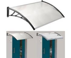 Auvent de porte marquise d'accueil 80x120 cm polycarbonate - Matériel de construction toiture