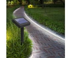 Balise strip LED solaire - 3m blanc - - Eclairage extérieur