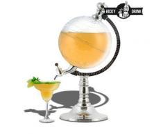 Distributeur de boisson en forme de globe terrestre - Verrerie