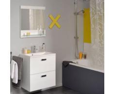 Ensemble de salle de bain L60xH162xP38cm - blanc laqué - Meubles de salle de bain