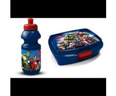 Gourde et lunch box - Avengers - Bleu - Objet à poser