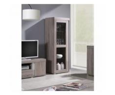 vitrine, colonne, bibliothèque avignon coloris sonoma / blancvitrine, colonne, bibliothèque avignon coloris sonoma / blanc - meuble tv