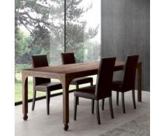 Table à manger industrielle en bois et métal RUBEN - Option 3 - Tables salle à manger