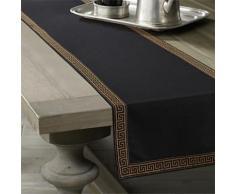 Chemin de table classique en lin 35 x 275 cm - linge de table et décoration