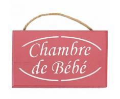 Plaque de porte Chambre de Bébé - ROSE POUDRE - Décoration murale