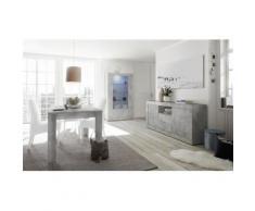 Nouvomeuble - Salle à manger gris béton complète urban 2 - Tables salle à manger