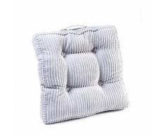 Coussin de sol Cord Handle gris 45x45cm Kare Design - Textile séjour