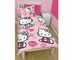 Hello Kitty - Parure réversible pour lit simple - Enfant (Lit simple) (Rose) - UTKB794 - Linge de lit