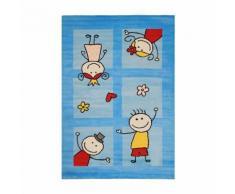 Tapis turquoise pour chambre de bébé mila - Tapis et paillasson