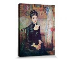 Vincent Van Gogh Poster Reproduction Sur Toile, Tendue Sur Châssis - Femme Assise Près D'Un Berceau, 1887 (40x30 cm) - Décoration murale