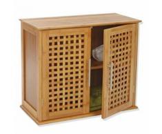 Etagère de salle de bain - 2 portes - Gamme bambou - Meubles de salle de bain