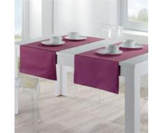 Chemin de Table Soft prune 50 x 170 cm Winkler - Linge de table