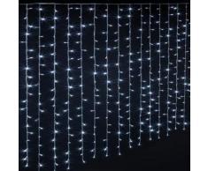 Rideau lumineux extérieur 300 LED blanc froid - Dim : L.150 x l.0,5 x H.200 cm -PEGANE- - Objet à poser