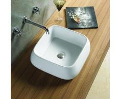 Vasque à Poser Carrée, 41x41 cm, Céramique, Cube - Installations salles de bain