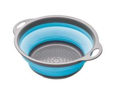 KITCHEN CRAFT COLOURWORKS PASSOIRE PLIABLE BLEU 24 CM - Ustensiles