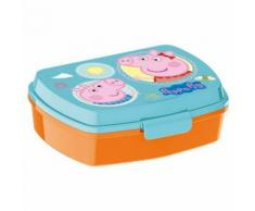 Boite A Gouter Peppa Pig Lunch Box Orange Turquoise - Autres