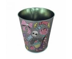 Pierre henry lee cooper mini corbeille conique - décor love - en métal - classé non feu m1 - imprimé vernis brillant - Poubelle