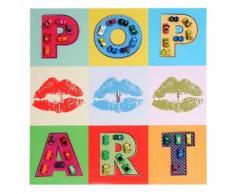 tableau pop art en 3D voitures / toile de décoration murale XL ~ 60x60cm - Décoration murale