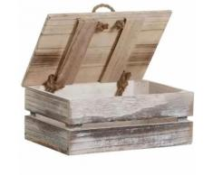 Petit Coffre en bois brut blanchi - Coffres