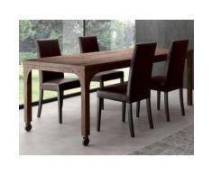 Table industrielle en bois massif et métal WILLIAM - L 160 x P 90 x H 80 cm - Tables salle à manger