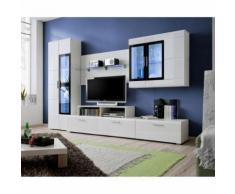 paris prix - meuble tv mural design 'krone' 270cm blancparis prix - meuble tv mural design 'krone' 270cm blanc - autres