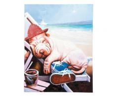 Tableau Peinture à l'huile Sharpei en vacances 60 x 90 - Objet à poser