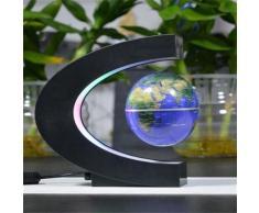 Globe Terrestre Lévitant Futuriste LED Multicolore Capteur Magnétique 360 Degrés - Objet à poser