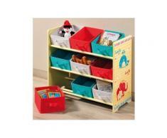 Meuble étagère pour chambre d'enfant - 9 paniers - Objet à poser