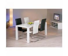 Chaise moderne design cuisine séjour salle à manger chrom simili cuir NOIR - Chaise