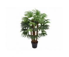 Arbre artificiel palmier RHAPIS tronc naturel - H.93 cm - Objet à poser