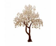 Paris Prix - Plante Artificielle arbre Fleuri 300cm Blanc & Rose - Plantes artificielles