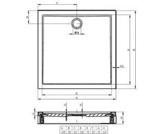 Receveur de douche acrylique rectangulaire avec tablier RIHO DAVOS 245 150x80x4,5 cm - Installations salles de bain