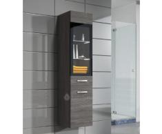 Armoire de rangement Rio Hauteur : 131 cm Bodega (gris) - Meuble de rangement haut placard meuble de salle de bain - Installations salles de bain