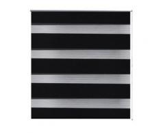 vidaXL Store enrouleur tamisant 60 x 120 cm noir - Fenêtres et volets