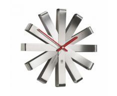 Horloge murale en métal forme flocon D.30.5cm RIBBON Acier - Décoration murale