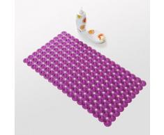 Tapis antidérapant moderne en PVC 40 x 70 cm Violet - Accessoires de bain