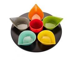 Table Passion - Service Aperitif Goutte 7 Pieces Multicolore Rotatif D32Cm - vaisselle