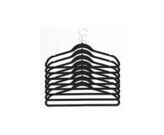 Cintres en velours noir - Lot de 8 - Rangement penderie - Objet à poser