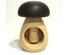 ROGER ORFEVRE - Casse-Noix a vis forme champignon bois bicolore - Ustensiles