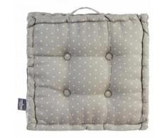 Paris prix - coussin de sol 'pois' 40x40cm gris - Textile séjour