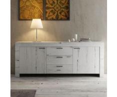 Nouvomeuble - Enfilade contemporaine couleur chêne blanchi loggia 2 - Buffets