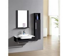 Ensemble meuble salle de bain Cologne Wengé - Meubles de salle de bain