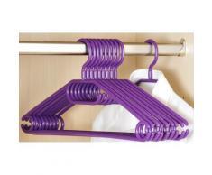 Cintres en plastique - Lot de 10 - Violet - Rangement penderie - Objet à poser