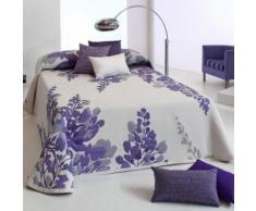 Couvre-Lit 280X270cm Tissé Jacquard Lilac Parme Pour Lit De 180X200cm Et Plus 100pourcentcoton - Linge de lit